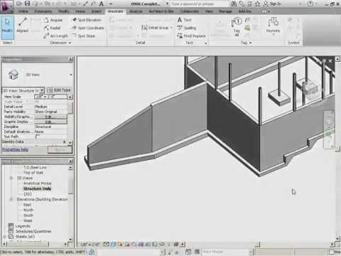 InfiniteSkills Tutorial | Revit Structure 2012 Training - Add Stepped Footing Riser