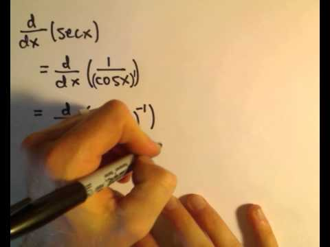 Deriving the Derivative Formulas for Tangent, Cotangent, Secant, Cosecant