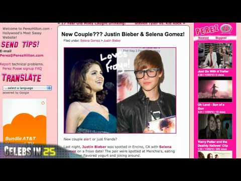 Celebsin60Secs: Nick Lachey married / Julien Hug dead / Justin Bieber and Selena Gomez an item