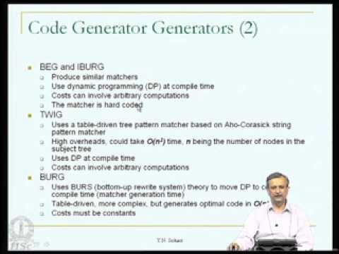 Mod-04 Lec-07 Code Generation-Part 2