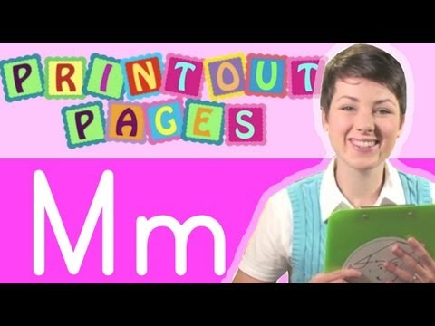 Learn to write letter M with Ms. Victoria, Learn the alphabet with Printout Pages on TinyGrads