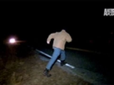 Finding Bigfoot- Bigfoot Crosses the Road?