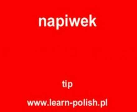 "How do you say ""tip"" in Polish"