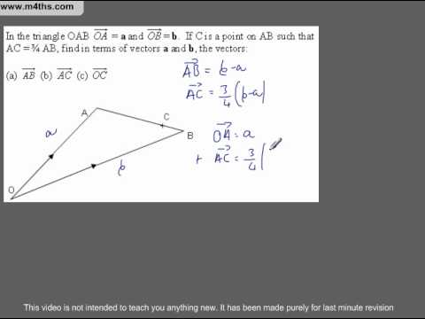 (Q284) A Star GCSE Revision Medium level vectors