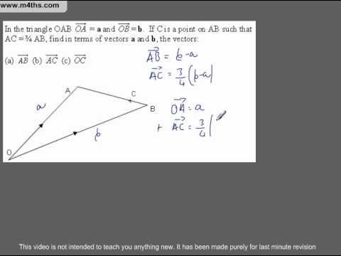 (Q284) A Star GCSE Revision Medium level vectors
