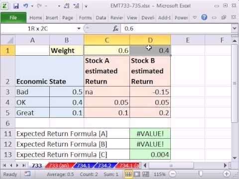 Excel Magic Trick 733: Expected Returns For Portfolio SUMPRODUCT & MMULT functions