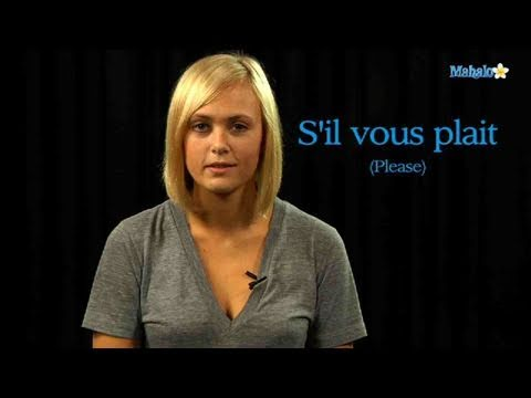How to Say Please in French
