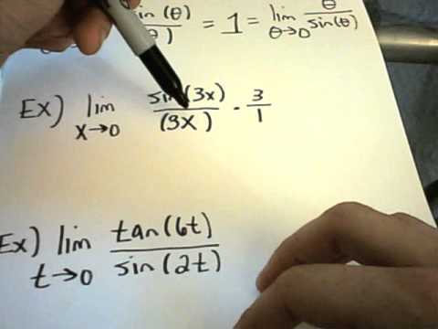 Calculating a Limit using: lim x-- 0 [ Sin(x)/(x) = 1] example