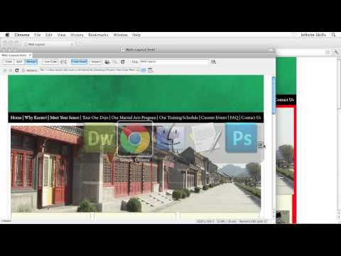 Beginners Web Design Tutorial | HTML Layout in Dreamweaver | InfiniteSkills Training