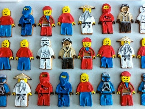 How to make lego man cookies / biscuits tutorial  - Ann Reardon - How To Cook That Ep004