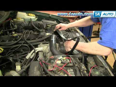 How To Install Replace Serpentine Belt Jeep Grand Cherokee 97-98 4.0L