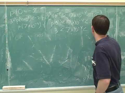 Chemistry: Buffer solutions. Logarithms (11)