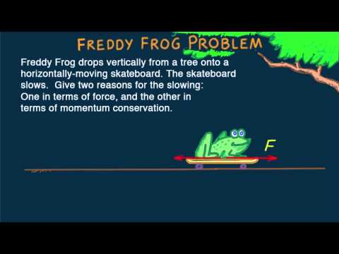 Hewitt-Drew-it! PHYSICS 27. Freddy-Frog Momentum Problem