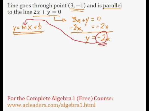 (Algebra 1) Linear Equations - Parallel Lines #3