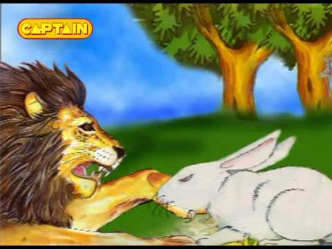 KidRhymes - Panchtantra - Lion and Rabbit - Hindi