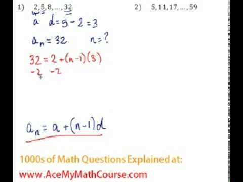 Arithmetic Sequences - Finding the Number of Terms Question #1
