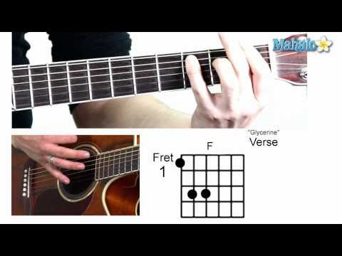 """How to Play """"Glycerine"""" by Bush on Guitar"""