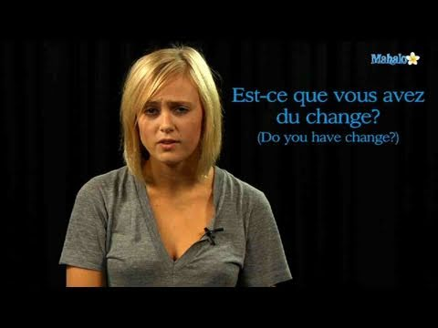 How to Ask For Change in French