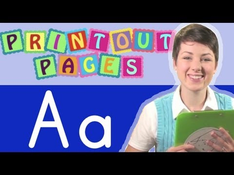Learn to write letter A with Ms. Victoria, Learn the alphabet with Printout Pages on TinyGrads