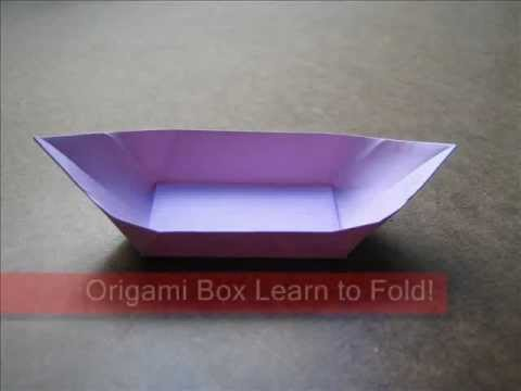 How to Fold Origami Boat Box   OrigamiInstruction com
