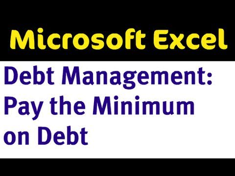 Excel Debt Management - Pay Minimums on Debt
