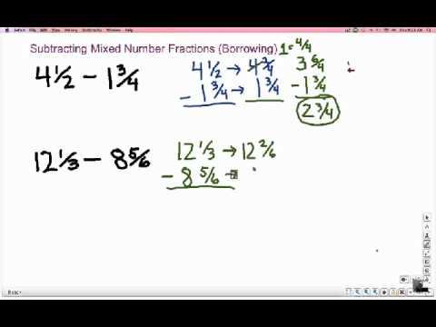 Fraction Subtraction & Borrowing: a Shortcut