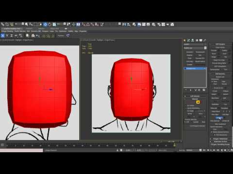 3D Studio MAX - Character Modeling - Part 08 (head model)