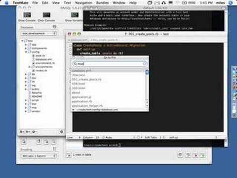Ruby on Rails Screencast 1 - David Heinemeier Hansson