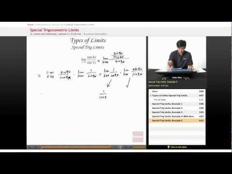 AP Calculus AB: Special Trigonometric Limits