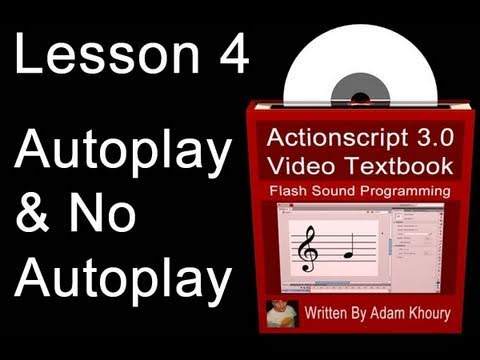 4. Actionscript 3.0 Sound Programming Video Textbook : Flash  CS4 CS5 MP3 Tutorials
