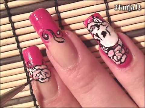 Designer Inspired #7: *Ed Hardy Nail Art Design*