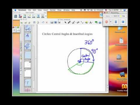 How to Find Central and Inscribed Angles of a Circle