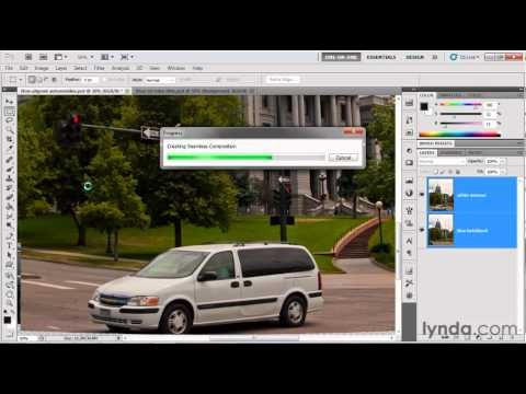 Photoshop tutorial: The Auto-Blend Layers command | lynda.com