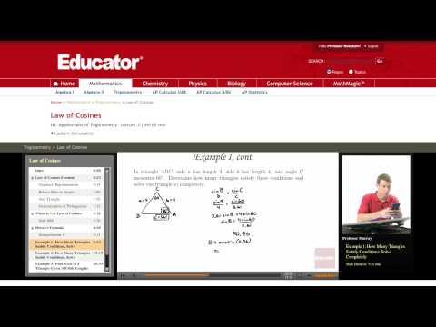 Trigonometry: Law of Cosines