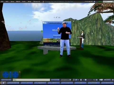 Second Life PowerPoint in Escribir Park - Voice Chat & Screen Functions