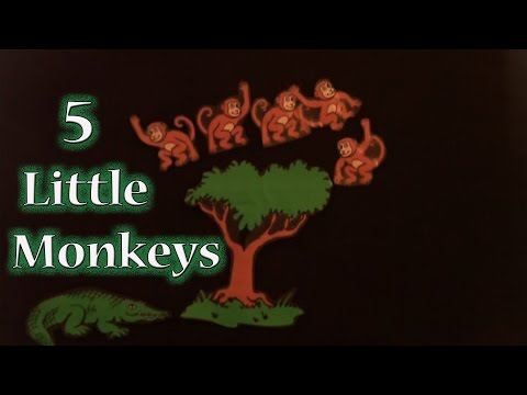 preschool songs - 5 Little Monkeys Sitting in a Tree - Littlestorybug