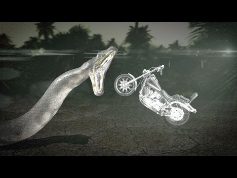 Titanoboa: Monster Snake - Could Titanoboa Swallow a Motorcycle?