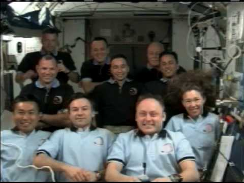 President Obama Speaks to Shuttle and Station Crew Members - Part 1