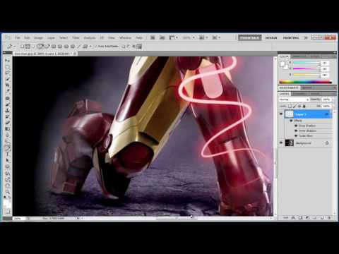 Photoshop CS5 - Shiny Glowing Lines - Tutorial