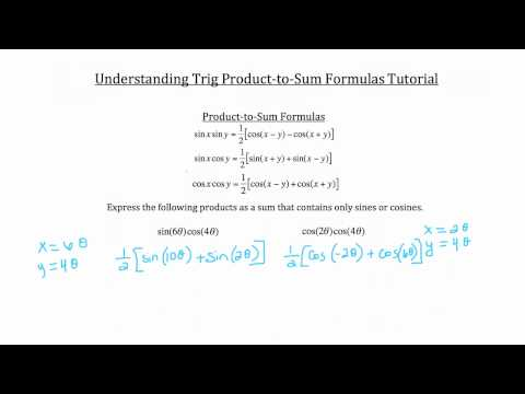 Trig Product-to-Sum Angle Formulas