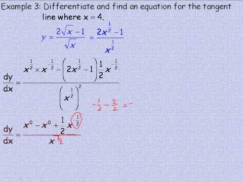 Differentiating Quotients Part 2.avi