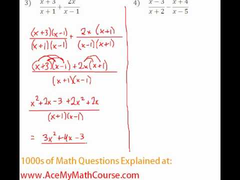 Rationals - Adding Rational Expressions #3-4