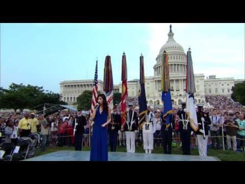 National Memorial Day Concert (official version) | Jessica Sanchez Sings the National Anthem | PBS