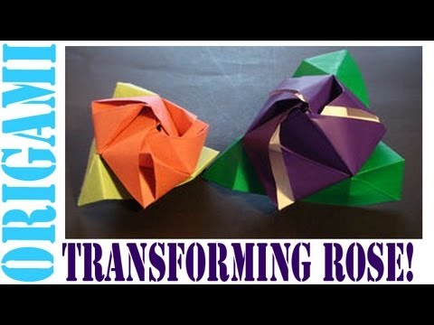 Origami Daily - 172: Magic Rose Cube (Valentine's Day) - TCGames [HD]