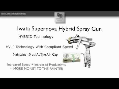Iwata (IWA5850) LS400H Supernova Hybrid Spray Gun with 1.3mm Nozzle and Cap