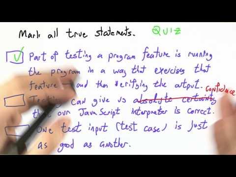 Testing Knowledge Solution - CS262 Unit 6 - Udacity