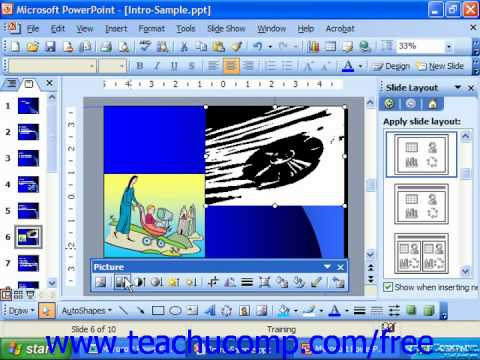 PowerPoint 2003 Tutorial The Picture Toolbar Microsoft Training Lesson 9.7