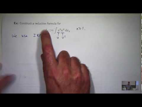 Reduction formula: integration
