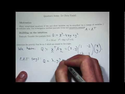 Principal axes theorem tutorial