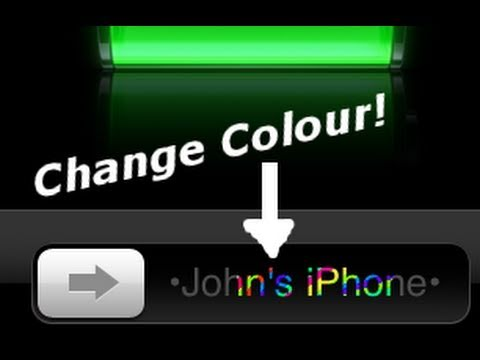 How to Change Slider Text Colors on iPhone, iPod Touch & iPad
